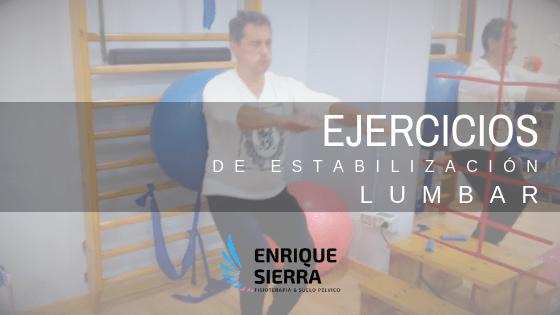 Ejercicios de estabilización lumbar